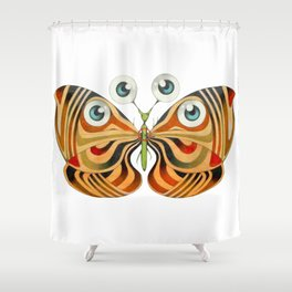 four eyes butterfly (ORIGINAL SOLD). Shower Curtain