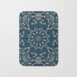 Seamless Tribal Mandala Pattern Bath Mat