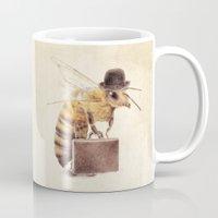 bee Mugs featuring Worker Bee by Eric Fan