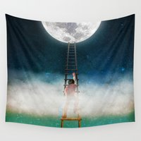 nirvana Wall Tapestries featuring Reach for the Moon by Diogo Verissimo