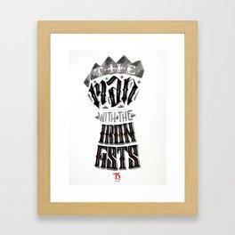 The Iron Fist Calligram Framed Art Print