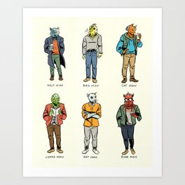 Animal Dudes Art Print
