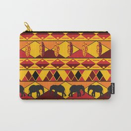 African Tribal Pattern No. 34 Carry-All Pouch