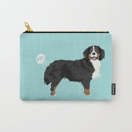 Bernese Mountain Dog dog breed funny dog fart Carry-All Pouch