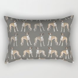 Whippet Love Pattern Rectangular Pillow