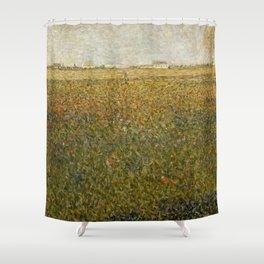 """Georges Seurat """"La Luzerne, Saint-Denis"""" Shower Curtain"""
