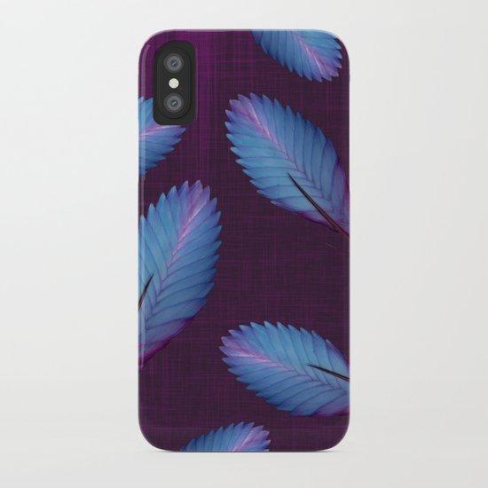 Tillandsia in dark purple iPhone Case