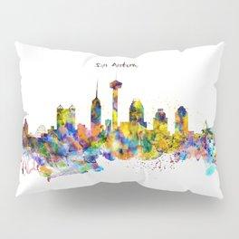 San Antonio Skyline Silhouette Pillow Sham