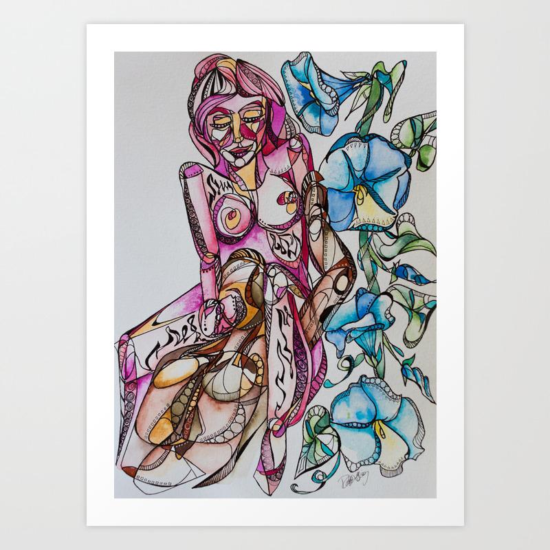 """""""""""goddess Between Your Legs"""""""" Art Print by Rachelsartprojects"""" PRN8246106"""