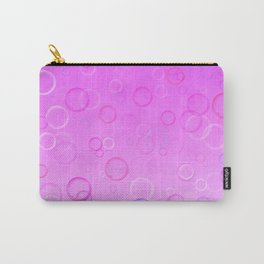 Colorful bubbles on a pink background. Carry-All Pouch