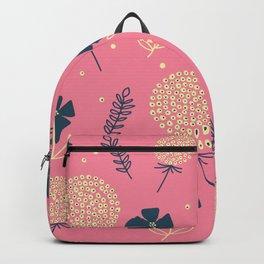 flower pattern spring leaves Backpack
