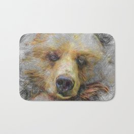 Artistic Animal Baer Bath Mat