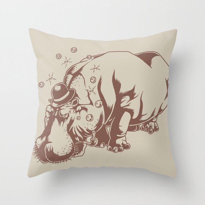 Hippo-Thesis Throw Pillow