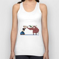"""popeye Tank Tops featuring """"Popeye""""'s taking out his nerves by Dano77"""