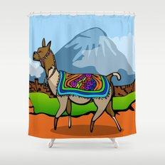 Lofty Llama Shower Curtain