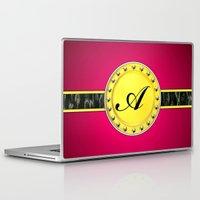 monogram Laptop & iPad Skins featuring Monogram by Precious Art Print
