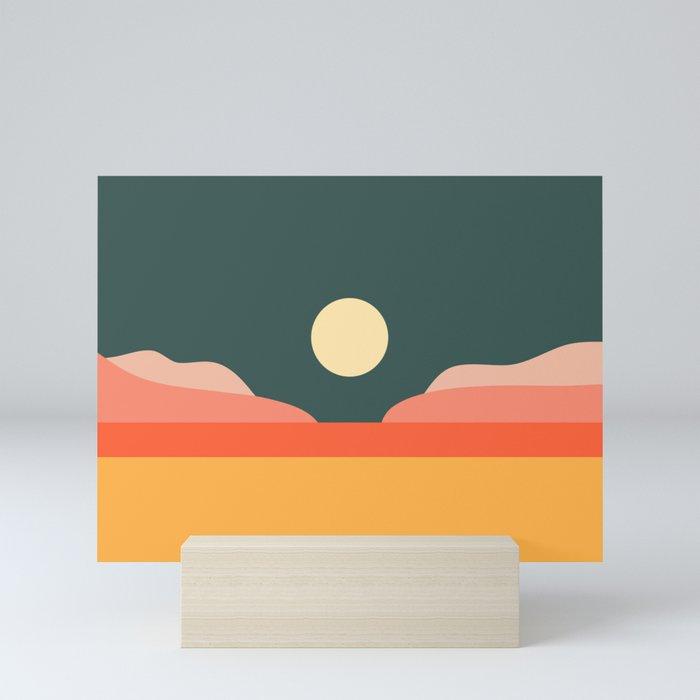Geometric Landscape 14 Mini Art Print