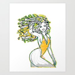 Afrolatina lemonade - 2 - sexy girl Art Print