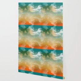 """Turquoise Moth & Marguerites (Heaven Background)"" Wallpaper"