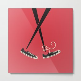 Chopstick Chucks Metal Print