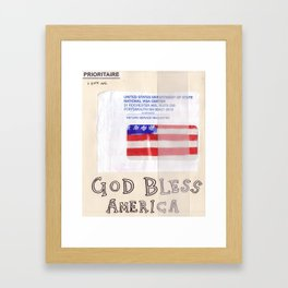 God Bless America Framed Art Print