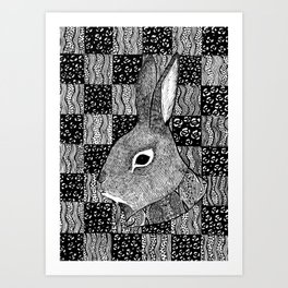 Tail of a Rabbit Art Print
