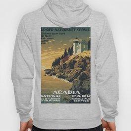Vintage poster - Acadia National Park Hoody