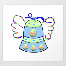 Winged Bell and  Egg Art Print