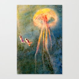 Glow of the jellyfish Canvas Print