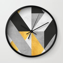 Gold Composition VIII Wall Clock