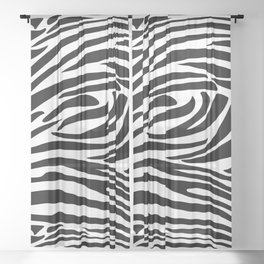 Zebra trendy design artwork animal exotic pattern Sheer Curtain