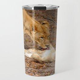 Bath Time for Lion Travel Mug