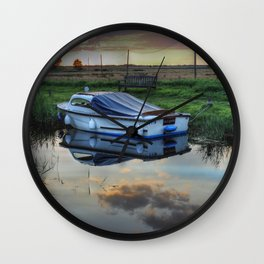Boat at West Somerton  Wall Clock