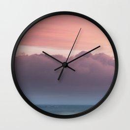 Pale Sunset Wall Clock