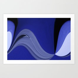 Blues Abstract Art Print