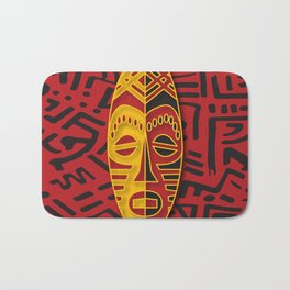 African Tribal Pattern No. 44 Bath Mat