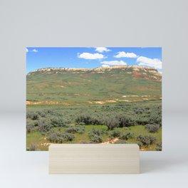 Watercolor Landscape Prairie Buttes 06, Kemmerer, WY Mini Art Print