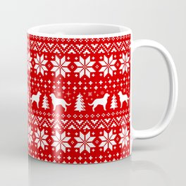 American Water Spaniel Silhouettes Christmas Sweater Pattern Coffee Mug