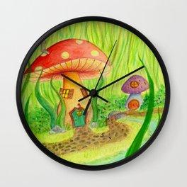 Mushroom Grove Wall Clock