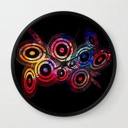 Vector circle shapes of the universe Wall Clock