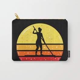 Woman On SUP Stand Up Paddleboard Carry-All Pouch