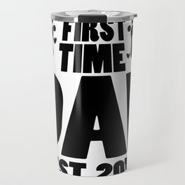 First Time Dad To Be Fathers Day Gift - Promoted Daddy Travel Mug
