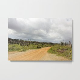 Grey Clouds over Bonaire Island in the Caribbean Metal Print