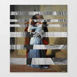Hayez's The Kiss & Clark Gable and Vivien Leigh Canvas Print