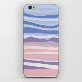 Mountain Scape // Abstract Desert Landscape Red Rock Canyon Sky Clouds Artistic Brush Strokes iPhone Skin