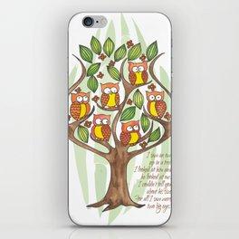 Owl Tree iPhone Skin