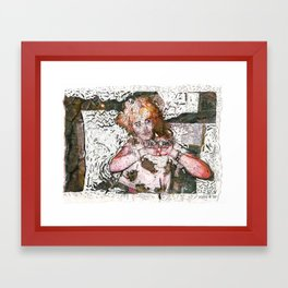 Barfday! Framed Art Print