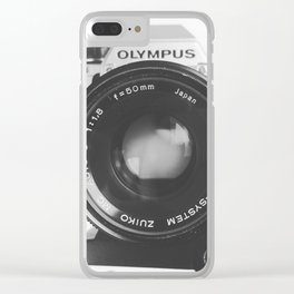 Vintage happy snap Clear iPhone Case