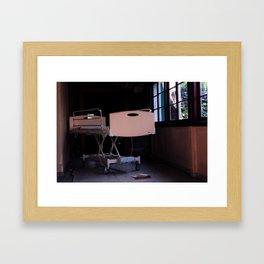Hospital Bed - Closeup Framed Art Print