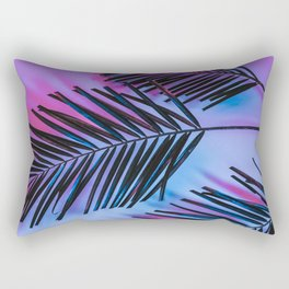 Seapunk Palm Leaves, Palm Leaf, Palm Tree Lover, 80s vibes Rectangular Pillow